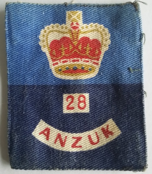 28 ANZUK Brigade patch. Robert McKie Collection