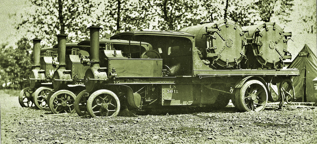 Foden steam wagon with Thresh disinfector at Langres, France Jun 2, 191