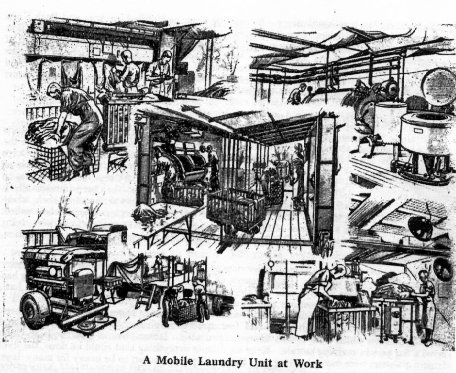 ordnance laundry at work