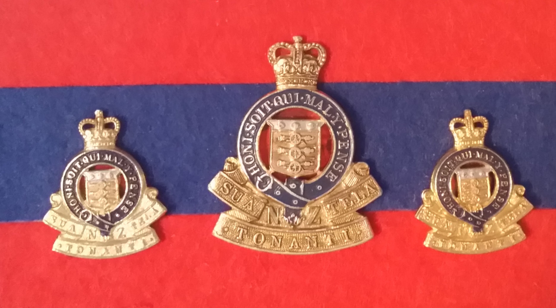 RNZAOC GILT, annodised coloured 1955-1996