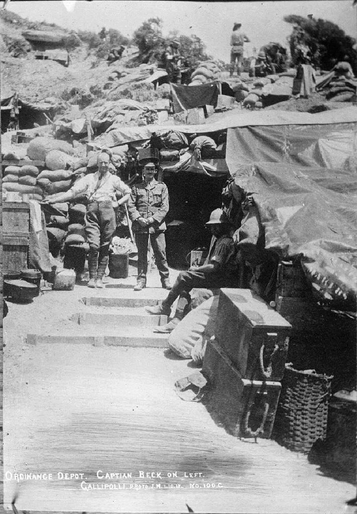 NZAOC Captain W T Beck Shrapnel Gully Gallipoli 1 October 1915_zpswl20vkxy