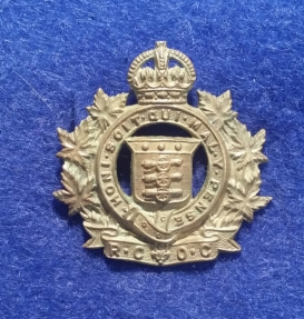 Royal Canadian Ordnance Corps 1922-1926. (Right Hand Collar Badge). Robert McKie Collection