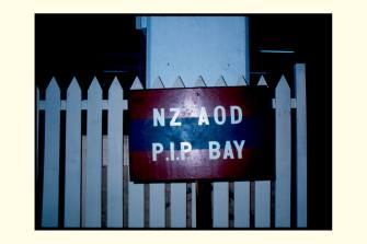 NZAOD Packing, Inspection and Preservation (PIP) Bay Sign