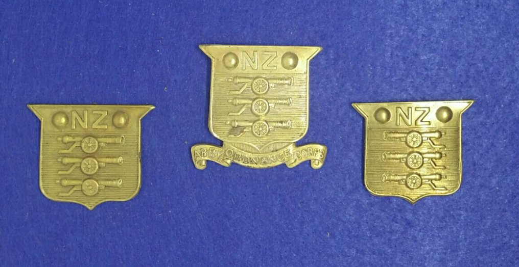 New Zealand Army Ordnance Corps badge 1917-1937. Robert McKie Collection