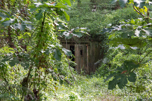 The entrance to the Attap Valley bunker.